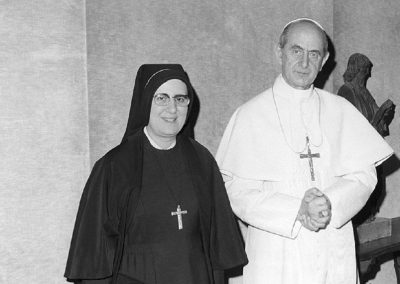 Mother Angelamaria with Pope Paolo VI, 1970