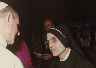 Mother Costantina Baldinucci with Pope Paolo VI , 12.11.1968